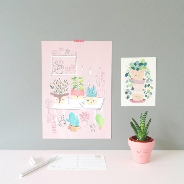 Bianca deco_A4 poster Plants
